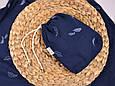 Муслиновая накидка для годування з сумочкою-чохлом, синя, фото 6