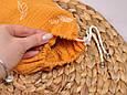 Муслиновая накидка для годування з сумочкою-чохлом, гірчична, фото 5