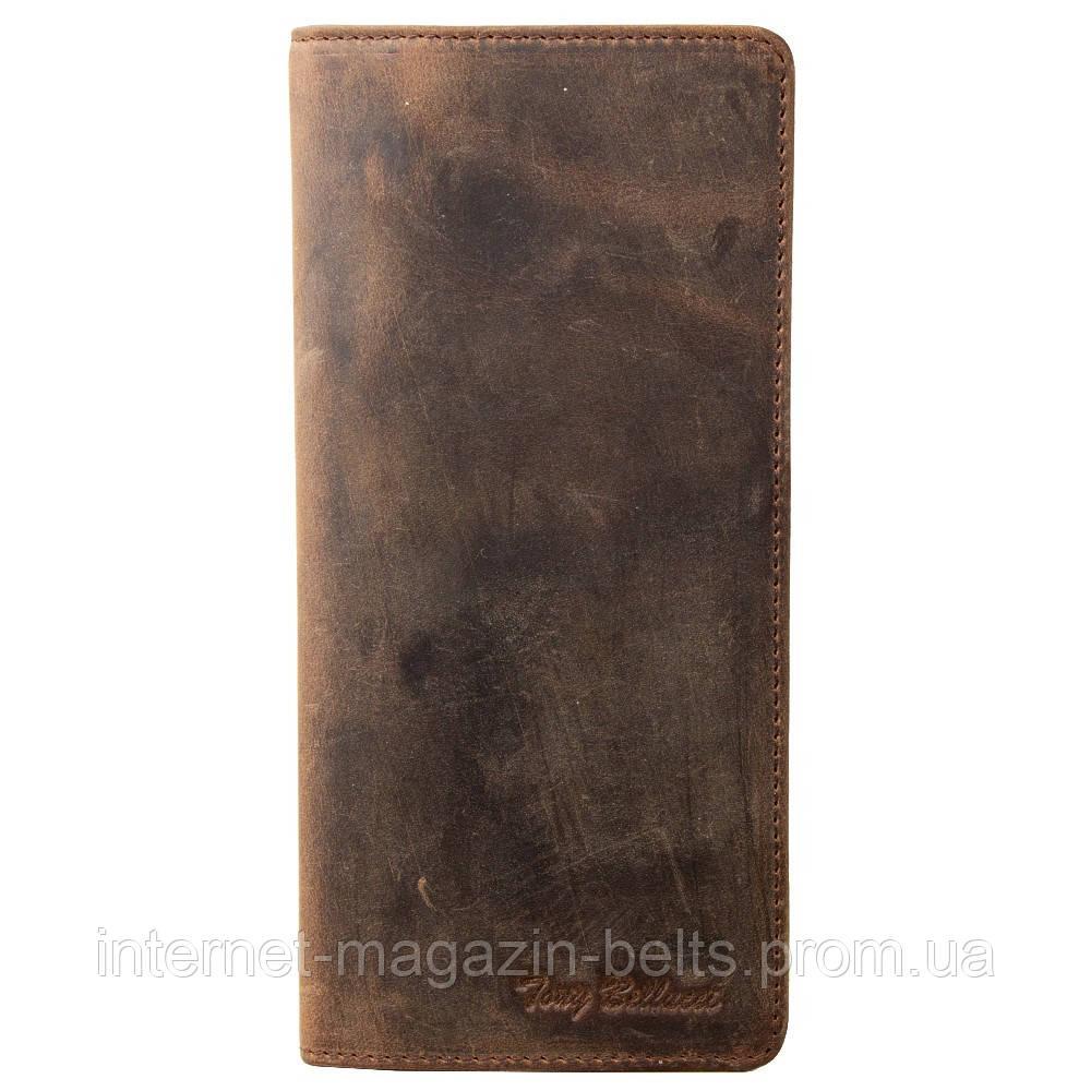 Портмоне кожа Tony Bellucci 873-06 коричневый нубук