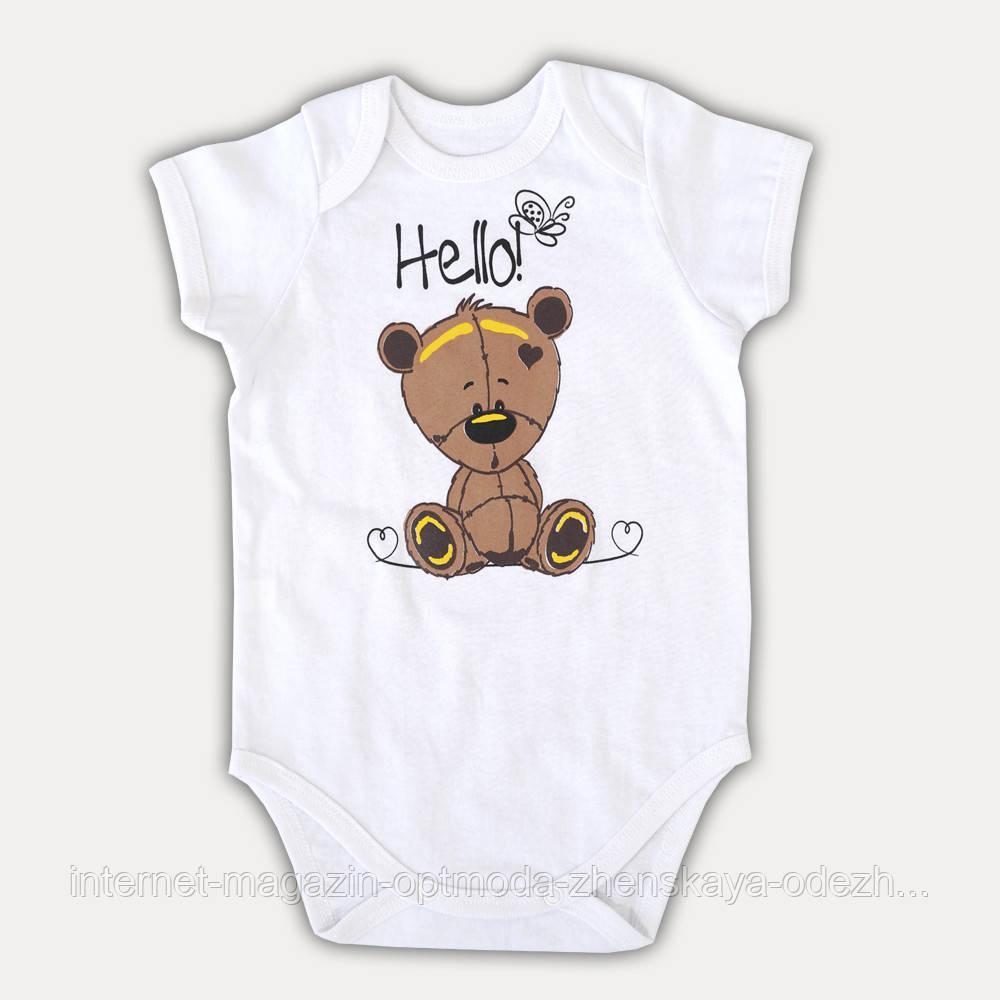 """Детский боди с коротким рукавом из хлопка """"Hello"""""""