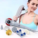Ручной вибрационный массажер для тела Magic Massager 8 в 1 с инфракрасным излучением, фото 2
