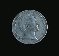 2 Талера 1839 года Германия Бавария Всадник  №284 копия