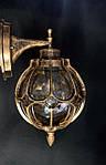 Вуличне бра - ліхтар настінний античне золото