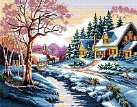 Набір для вишивання хрестом 45х36 Зима Joy Sunday F025-1, фото 1