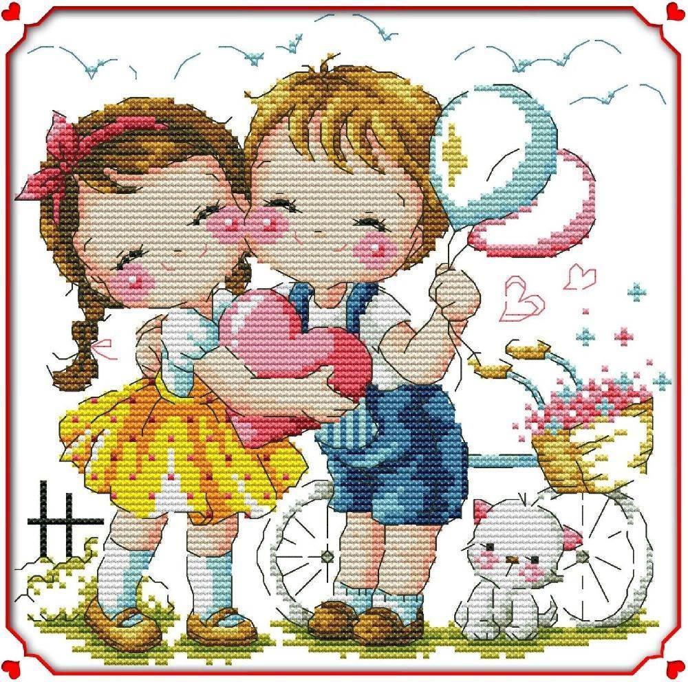 Набор для вышивания крестом 26х26 Маленькая любовь Joy Sunday K511