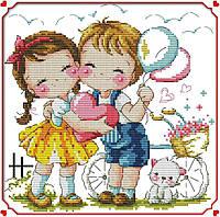 Набор для вышивания крестом 26х26 Маленькая любовь Joy Sunday K511, фото 1