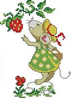 Набор для вышивания крестом 16х20 Мышка и клубника Joy Sunday D973, фото 1