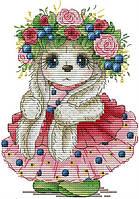 Набор для вышивания крестом 17х22 Зайка Joy Sunday DA341, фото 1