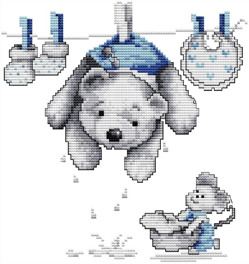 Набір для вишивання хрестом 25х26 Ведмедик Joy Sunday K427