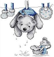 Набір для вишивання хрестом 25х26 Ведмедик Joy Sunday K427, фото 1