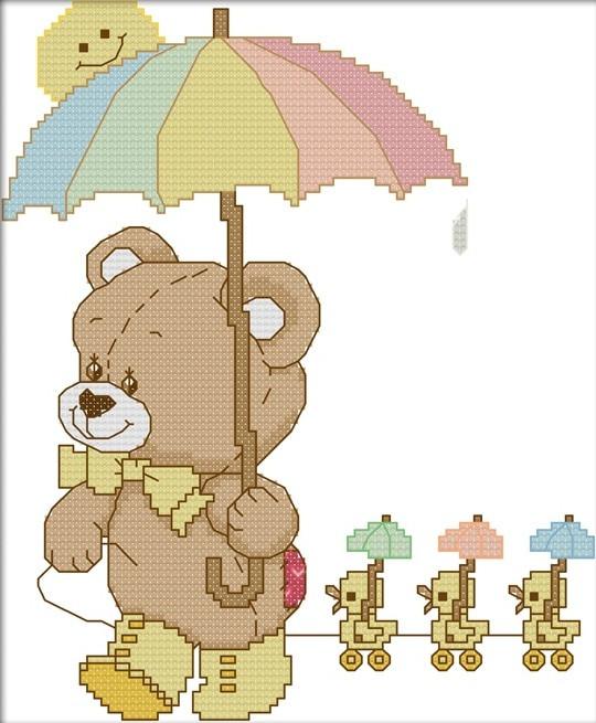 Набір для вишивання хрестом 20х26 Ведмедик Joy Sunday K646