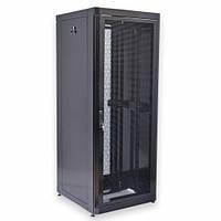"""Шкаф 19 """" 42U , 800х865 мм ( Ш * Г ) , усиленный , перфорированные двери ( 66 % ) , черный"""