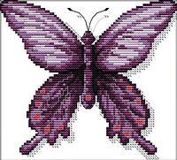 Набор для вышивания крестом 24х22 Фиолетовая бабочка Joy Sunday D475, фото 1