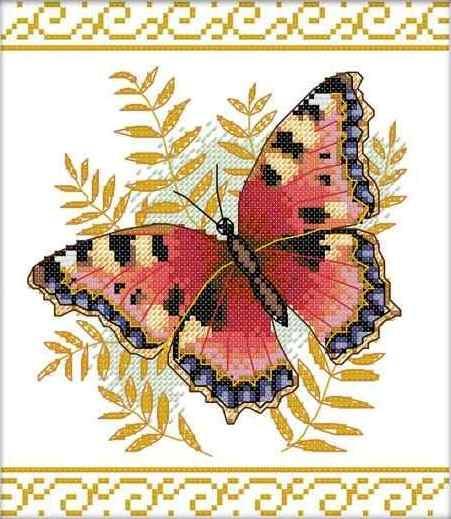 Набор для вышивания крестом 26х28 Бабочка Joy Sunday DA049