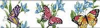 Набір для вишивання хрестом 55х17 Три метелики Joy Sunday DA151, фото 1