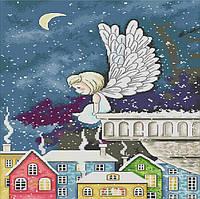 Набор для вышивания крестом 35х54 Ангел на крыше Joy Sunday RA245, фото 1