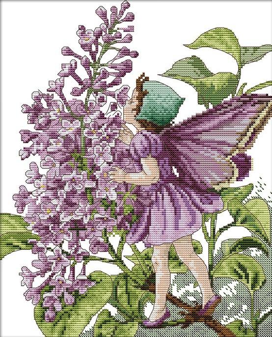 Набор для вышивания крестом 31х36 Цветочная фея Joy Sunday R467