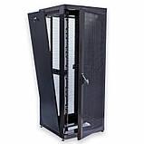 """Шкаф 19 """" 42U , 800х865 мм ( Ш * Г ) , усиленный , перфорированные двери ( 66 % ) , черный, фото 2"""