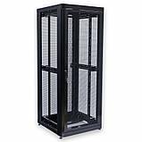 """Шкаф 19 """" 42U , 800х865 мм ( Ш * Г ) , усиленный , перфорированные двери ( 66 % ) , черный, фото 4"""
