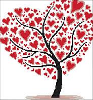 Набор для вышивания крестом 33х35 Дерево любви Joy Sunday J307, фото 1
