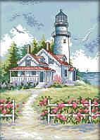 Набор для вышивания крестом 21х30 Домик и маяк Joy Sunday F780, фото 1