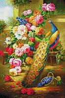 Набір для вишивання хрестом 66х95 Павич і квіти Joy Sunday D085, фото 1