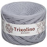 Trikolino (Триколино) 7-9 мм 100 м серебристый серый Трикотажная пряжа, нитки для вязания.