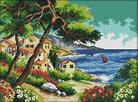 Набір для вишивання хрестом 36х29 Морський пейзаж Joy Sunday F920, фото 1