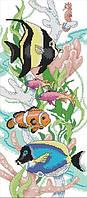 Набір для вишивання хрестом 28х53 Тропічні рибки Joy Sunday D592, фото 1