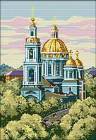 Набор для вышивания крестом 29х40 Голубая церковь Joy Sunday F348, фото 1