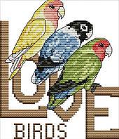 Набір для вишивання хрестом 17х20 Три папугу Joy Sunday D623, фото 1