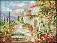 Набор для вышивания крестом 48х37 У фонтана Joy Sunday F605, фото 1