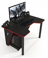 Геймерский игровой стол ZEUS IVAR-1200, черный/красный, фото 1