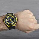 Часы наручные спортивные Skmei 0931, черный-желтый, в металлическом боксе, фото 4