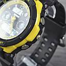 Годинник Skmei 0931, чорний-жовтий, в металевому боксі, фото 8