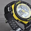 Годинник Skmei 0931, чорний-жовтий, в металевому боксі, фото 3