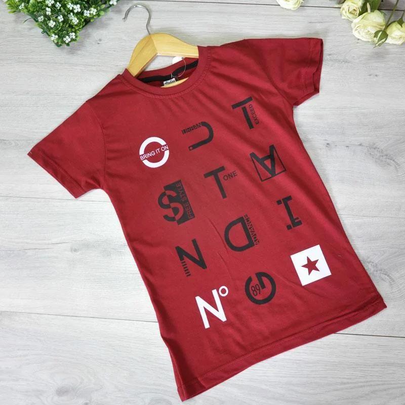 Детская футболка, трикотаж, для мальчика 9-12 лет (4 ед. в уп)