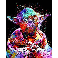Картина рисование по номерам Babylon VPS1073 Йода. Звездные войны бебилон 50х65см набор для росписи по цифрам, фото 1