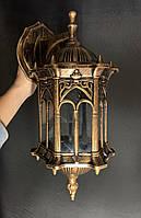 Вуличне бра - ліхтар настінний античне золото, фото 1