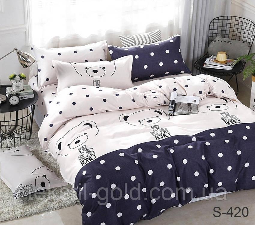 2-спальный комплект постельного белья скомпаньоном S420 сатин хлопок ТМ TAG
