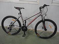 Женский велосипед горный алюминиевый 26 дюймов 18 рама Infinity Кроссер СЕРО-РОЗОВЫЙ, фото 1