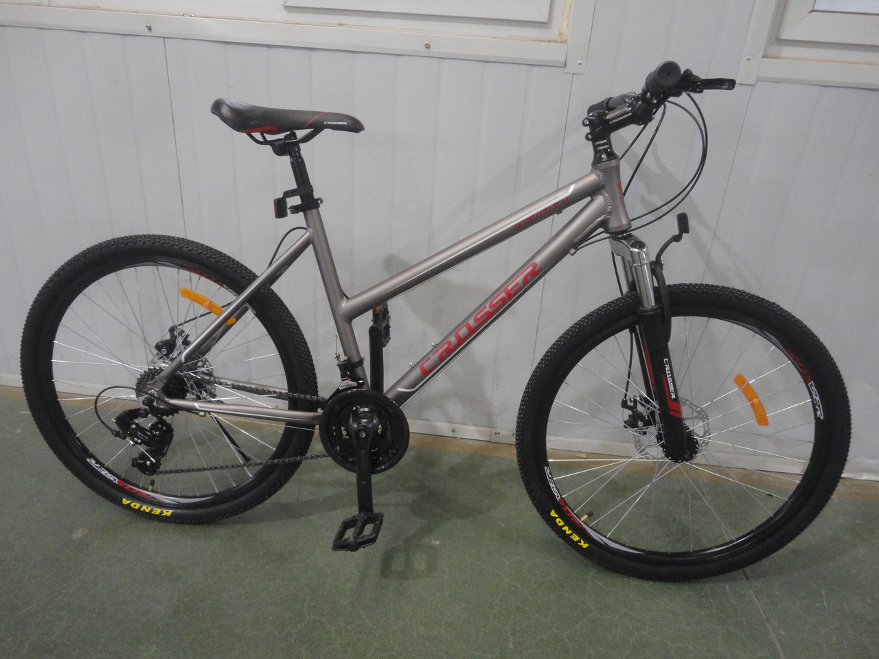 Женский велосипед горный алюминиевый 26 дюймов 18 рама Infinity Кроссер СЕРО-РОЗОВЫЙ