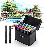 Набор маркеров для рисования Touch Raven 80 шт скетч-маркеры, профессиональные фломастеры по номерам