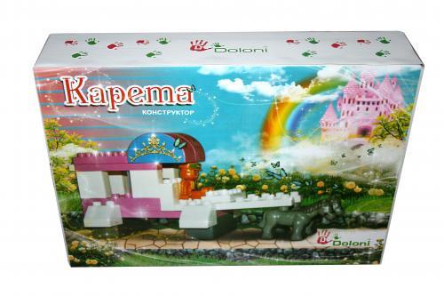 Конструктор для малышей Карета 38дет. Flamingo 013888/17
