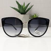 Солнцезащитные очки женские кошачьи глазки Cardeo 0110 Черный