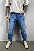 Чоловічі джинси МОМ прямі синього кольору, фото 2