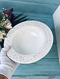 Набор тарелок для супа 3 шт. Королевская лилия, фото 2