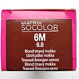 6M (темный блондин мокка) Стойкая крем-краска для волос Matrix Socolor.beauty,90 ml, фото 2