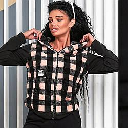 Женская куртка-кофта теплая мех