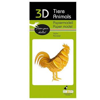 "3D модель із папіру ""Півень"""